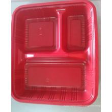 Три отверстия красной пластиковой пластины (HL-157)