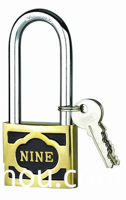 M-thick Cast Brass Padlock With Long Shackle