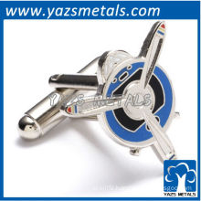 Military airplane cufflinks, customize high quality metal crafts