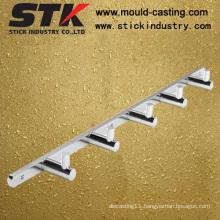 Polishing Bathroom Hook, Chrome Plating, Five Hooks, Stainless Steel