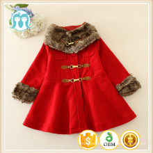 Korean Style New Fashion Children Girls Long Sleeve Outwear Coat Jacket With Waistband Baby Girls Coat With Fur Neck