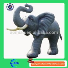 Inflável, inflável, elefante, gigante, inflável, animal, publicidade