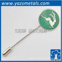 custom high quality deer lapel pin with needle, design logo