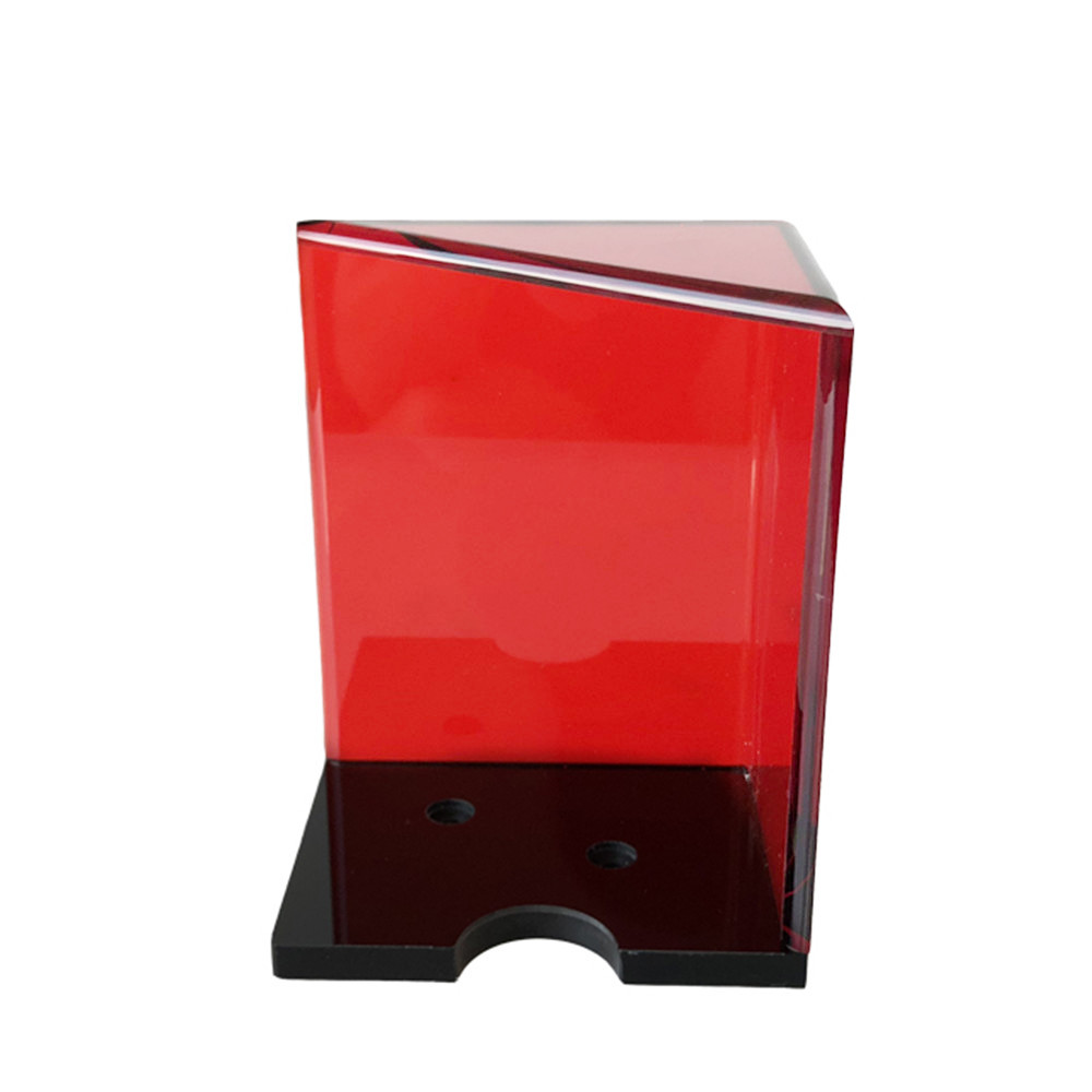 6 Deck Red Acrylic Discard Holder With Top