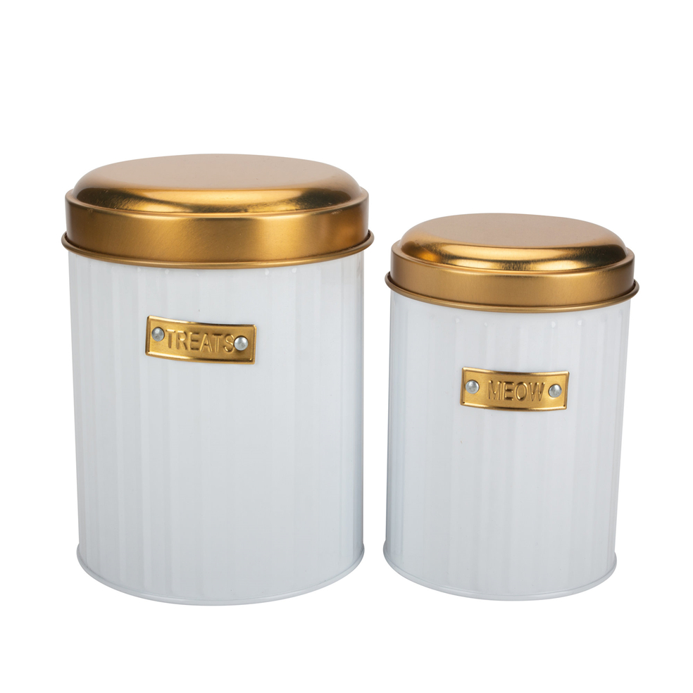 Golden Metal Storage Bin