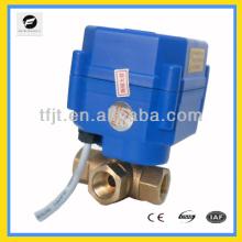válvula eléctrica de 3 vías L-flow DC12V DN8 CR01 con indicador de posición
