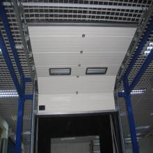 Porta secional deslizante remota galvanizada personalizada