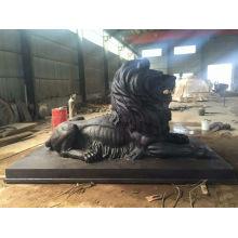 Large bronze lion statue VLA-095R