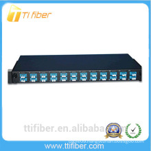 24 Port 1U Fiber Patch Panel Preloaded with Duplex Single Mode LC Connectors