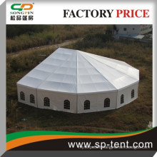 On sale outdoor octagon tent with luxury linings and curtain for garden party