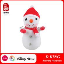 Ornamentos de encargo de la Navidad Juguetes suaves del muñeco de nieve como regalos