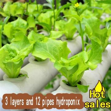 PVC Pipes Indoor Grow Kit NFT Hydroponic System