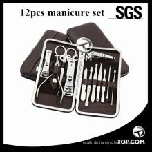 12 teile / satz Utility Maniküre Set Nagelknipser Kit Nagelpflege Set Pediküre Scissor Pinzette Messer Ohr Pick Werkzeuge