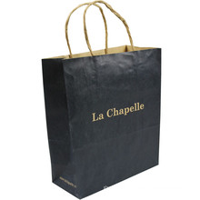 China gold supplier hot sale black kraft paper bags grocery bags for shopping