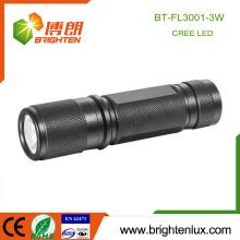 Logo d'approvisionnement en usine Impression Matériau en aluminium 3 * AAA Taille de la poche à la batterie Bright CREE XPE R3 3w a conduit la meilleure torche