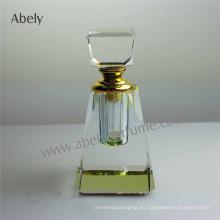 Abely Nueva botella de perfume de vidrio con tapa de vidrio