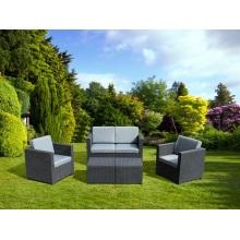 Muebles de ratán redondos para exteriores Sofá de plástico para patio