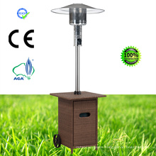 Cuboid Wicker Outdoor Glass Tube Pyramid Gas Patio Heater