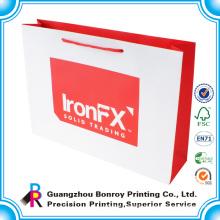 fashion brown kraft paper bag for shopping made in Guangzhou china