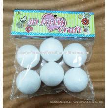 Venda por atacado para crianças artesanato branco com bolas de isopor