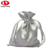 Серебряная ткань ювелирные изделия мешок с строку закрыть