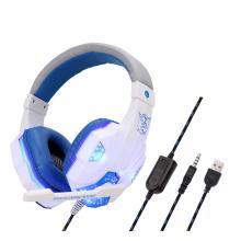 Auriculares para juegos, auriculares para juegos PC USB Estéreo Iluminación colorida Auriculares para juegos con micrófono para computadora 1 comprador