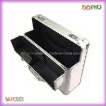 Plata ABS Material Caja de herramientas de aluminio hecho a medida de la maleta (SATC005)