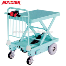 400kg capacity electric platform cart /truck with electric lifting
