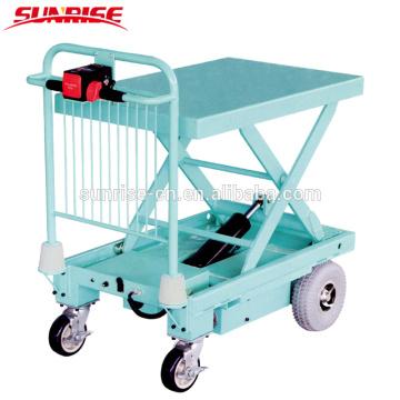 Nouvel entrepôt de conception remise équipement électrique ciseaux ascenseur table camion