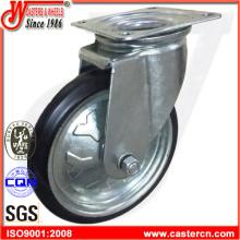 Высококачественные поворотные черные резиновые ручные тележки для колес