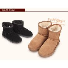 Hot venda de alta qualidade de baixo preço suede fuzzy atacado mulheres botas de inverno