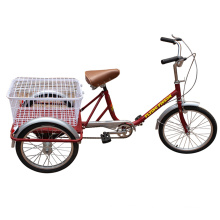 Light and Portable Senior People Three Wheel Bike (FP-TRCY028)
