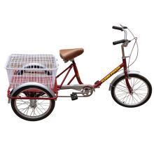 Luz e portátil sênior pessoas três roda de bicicleta (pf-trcy028)