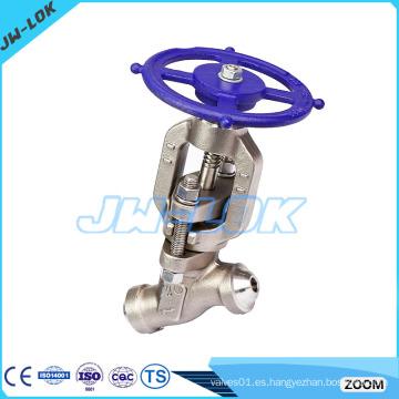 Presión de alta presión de acero y-patrón globo válvula pn16