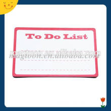 Rectangle paper magnetic message board