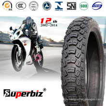 Motorcycle Rubber Tubeless Tyre (110/100-18) for Hard Terrain.
