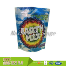 Zipper Top Food Grade Packaging Heat Seal Customized Made Plastic Aluminum Foil Lined Candy Package Bag
