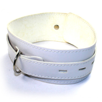 Sex Neck Ring Neck Collar Sm Necklace Fetish Sex Toy Leather PVC White Neck-Ring for Couple