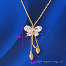 Xuping Fashion Alloy Necklace with Gold Plated