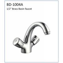 Bd1004A Double Handle Deck Mount Basin Faucet
