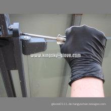 Wegwerfpuderfreie schwarze Nitril-Untersuchungshandschuhe-5913