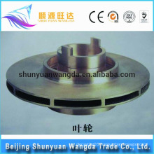 Customized sand casting brass impeller for pumps marine impeller parts