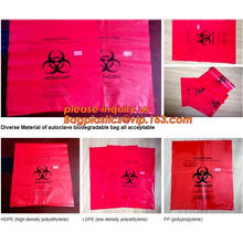 Disposable Hospital Red / Yellow Polyethylene Biohazard Infectious Autoclave Bags