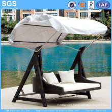 Garden Furniture Rattan Furniture Swing Chair with Canopy Swing Bed
