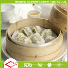 Food Grade Custom Silicone Non-Stick Steaming Paper Steamer Liner
