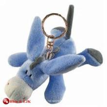 Kundengebundener Soem-Entwurfsplüsch-Esel keychain