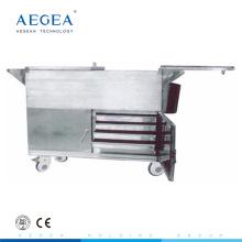 AG-SS035C repas plus chaud panier alimentaire en acier inoxydable médical chariot
