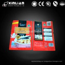 Empaquetado plástico del alimento del calor del grado de la comida para los dumplings congelados
