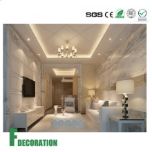 Painéis rígidos das paredes do chuveiro da textura do mármore da placa do PVC dos materiais de construção