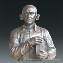 Gran figura estatua filósofo Adam Smith Escultura de bronce Tpls-080